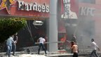 Protesters ransack US fast food chains Hardee's and KFC in Tripoli, northern Lebanon. Photo: 14 September 2012