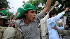 Muslim protesters shout anti-US slogans in Islamabad. Photo: 14 September 2012