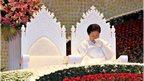 Han Hak Ja at Sun Myung Moon funeral