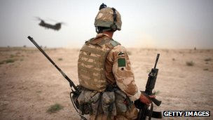 UK soldier in Afghanistan