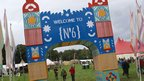 Welcome to Festival No6 - entrance to the main arena at Portmeirion