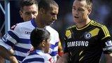 QPR's Anton Ferdinand and Chelsea's John Terry