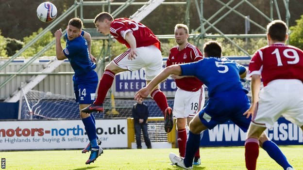 Cammy Smith scores for Aberdeen against Inverness