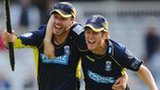 Hampshire celebrate victory at Lord's