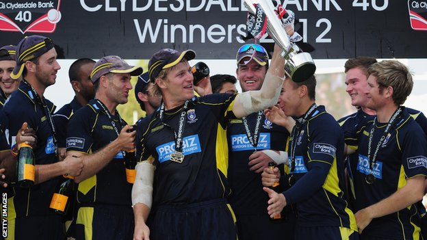 Hampshire collect the CB40 Trophy