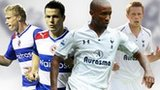 Left to right: Pavel Progrebnyak, Ian Harte, Jermain Defoe, Gylfi Sigurdsson