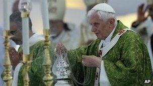 Pope burning incense