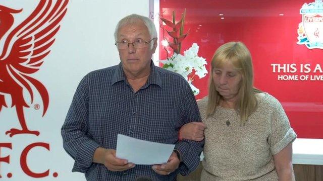 Trevor Hicks and Margaret Aspinall
