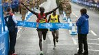 Wilson Kipsang wins the Bupa Great North Run
