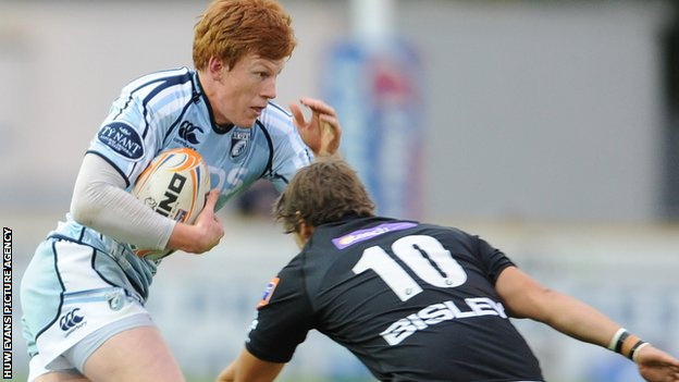 Cardiff Blues fly-half Rhys Patchell