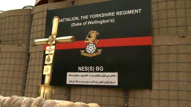 Memorial to fallen soldiers in Helmand