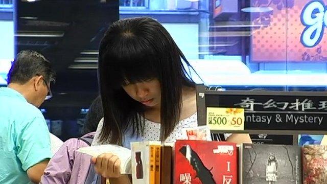 Woman shopper in Taipei