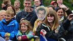 Fans greet Andy Murray in Dunblane