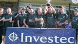 Argyll Investment celebrate winning the title