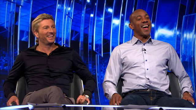 Robbie Savage and Dion Dublin