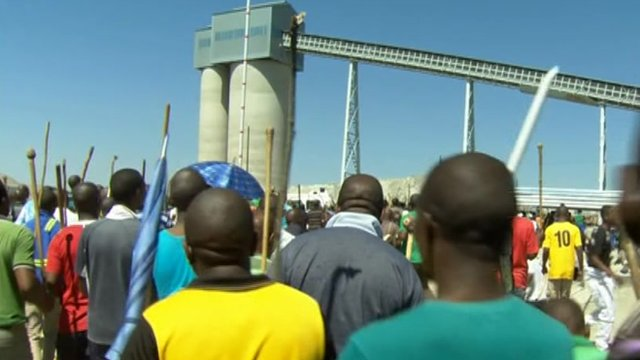 South African mine strike