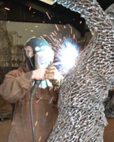 Andy Scott working on The Kelpies