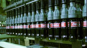 Library picture of a Coca-Cola bottling plant (Image: AP)
