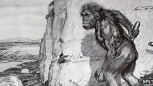 Representation of Neanderthal man, 1909