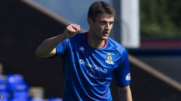 Inverness midfielder Owain Tudur Jones