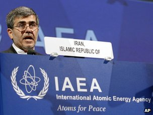 Fereydun Abbasi-Davani addresses the IAEA&#039;s general conference in Vienna (17 September 2012)