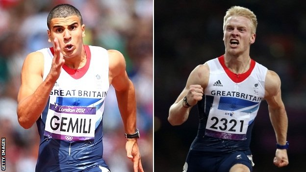 Adam Gemili and Jonnie Peacock