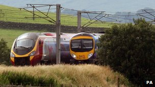 Virgin and FirstGroup trains