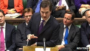 George Osborne speaking in Commons