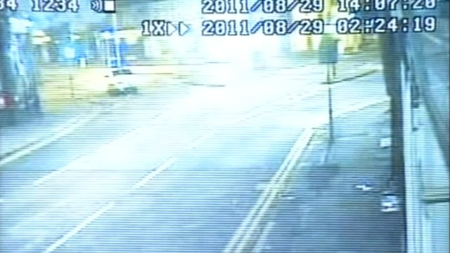 CCTV image of the explosion