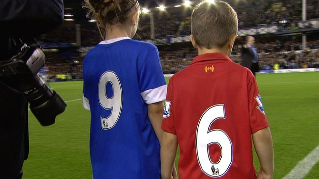 Everton's tribute to Hillsborough families