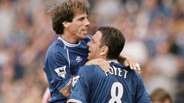 Gianfranco Zola and Gus Poyet