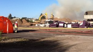 Fire at recycling plant in Stanton-by-Dale