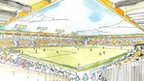 Artist&#039;s sketch of proposed new Cambridge United stadium