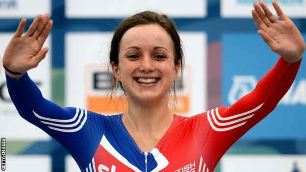 Elinor Barker celebrates