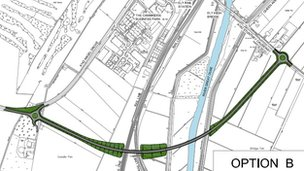 Ely by-pass map