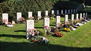 Graves of servicemen who died on board HMS Charybdis and HMS Limbourne during World War II