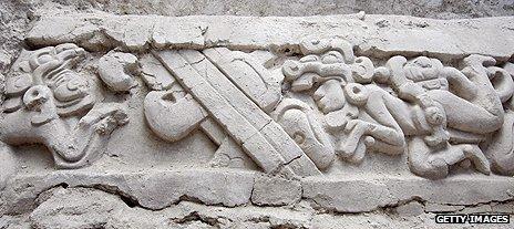 Mayan frieze