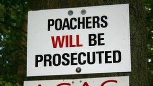 Poaching sign