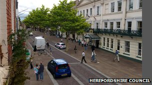 Broad Street Hereford - artist&#039;s impression