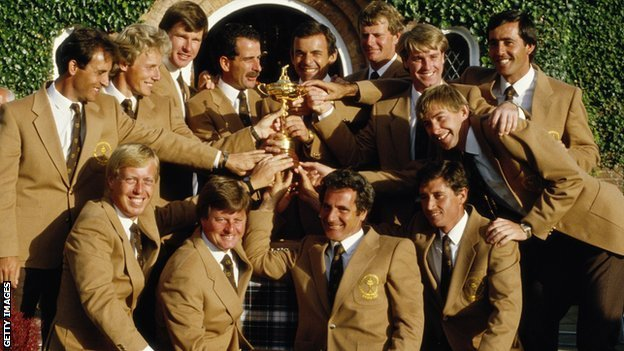 2012 Winning Ryder Cup Team Europe Win The Ryder Cup in