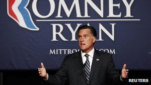 Mitt Romney speaks at a campaign fundraiser in Salt Lake City, Utah 18 September 2012