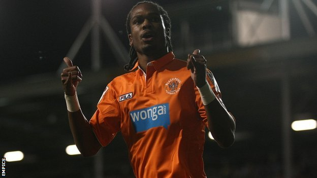 Nathan Delfouneso was on the scoresheet for Blackpool