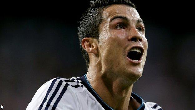 Cristiano Ronaldo celebrates his winner