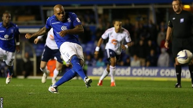 Marlon King scores the winning goal for Birmingham