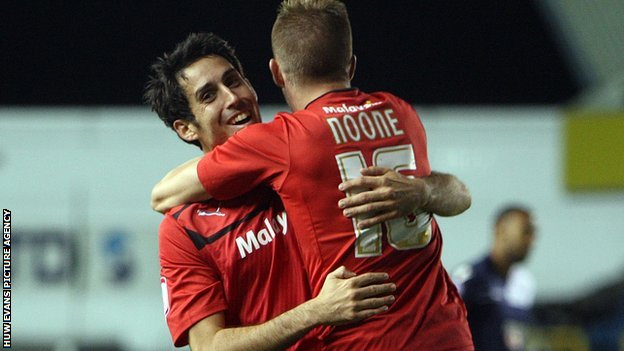 Goalscorers Peter Whittingham and Craig Noone celebrate
