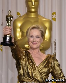 Meryl Streep at the 2012 Oscars