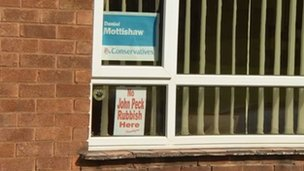 Political posters in Edwinstowe