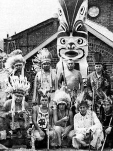 Archive picture of Whale Island Totem Pole