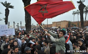 Pro-reform protest, Rabat, February 2011
