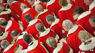 Peers in ceremonial robes